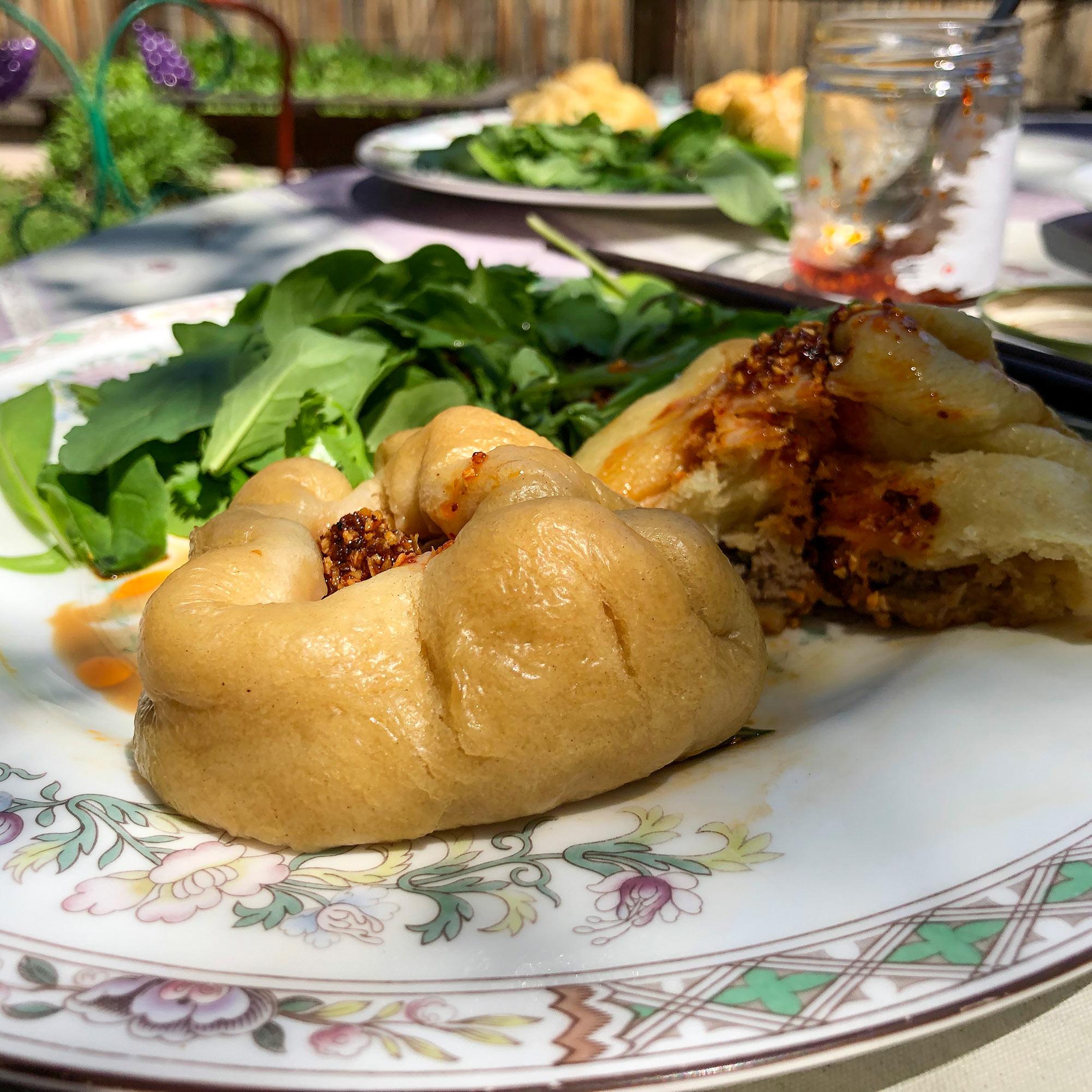 Bao buns with salad