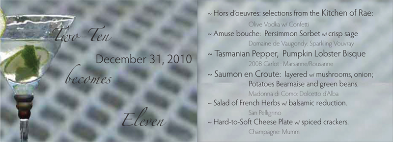 Menu for 2010 to 2011