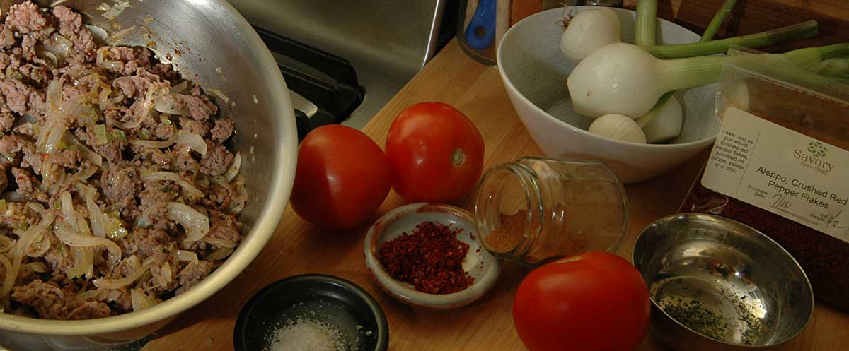 ingredients for the moussaka