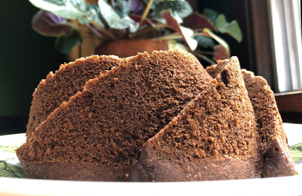 chocolate cake as a bundt