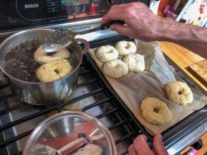 bagel making