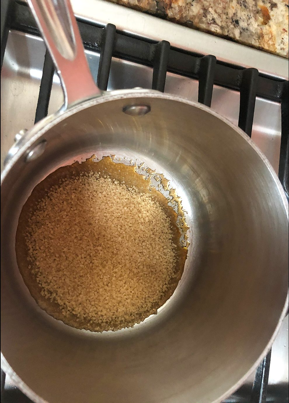 melt sugar for caramel