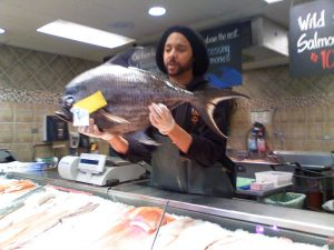 Fresh fish at Whole Foods - before Amazon