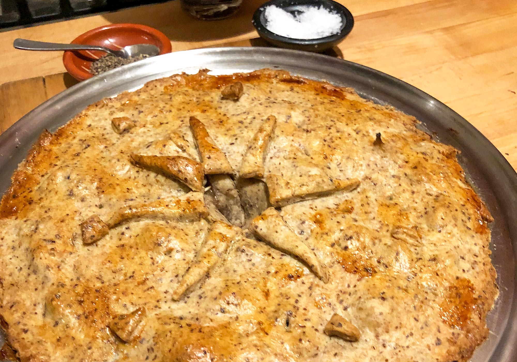 decoratively baked chicken pot pie