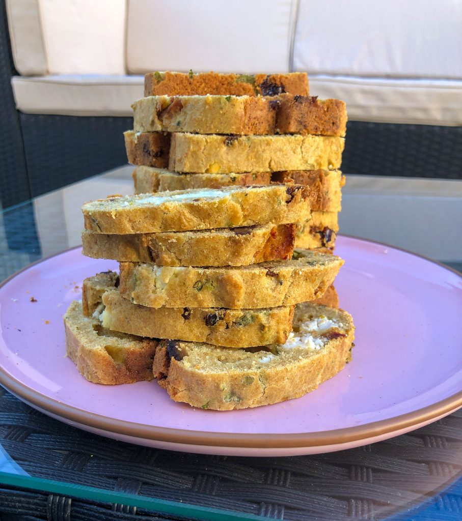 savory bread as appetizer